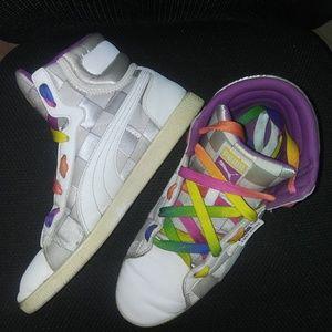 PUMA high top rainbow sneakers (VERY RARE!!)